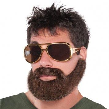 Wacky Facial Hair Hungover Beard/Moustache Costume Accessory, Self Adhesive, 1 piece -
