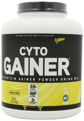 CytoSport Cyto Gainer Protein Drink Mix, Banana Creme, 6 Pound