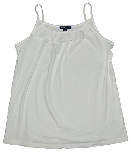 GAP Kids Girls White Eyelet Ruffle Cami Shirt XL 12 - Gap White Tank Top