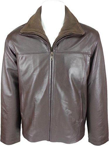 UNICORN Hommes Classique Double Fermeture éclair Manteau - Réel cuir veste - Noir Nappa #HG