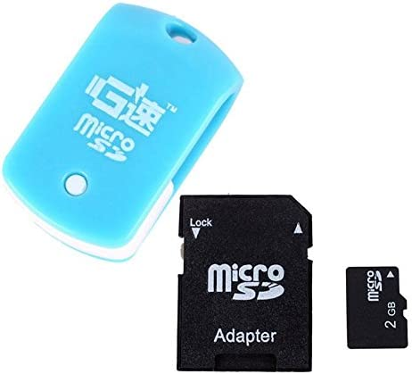 Mini Rotary Card Reader Random Color Eachbid Tf 2GB Micro SD Card with SD Card Adapter