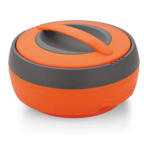 Asian Cosmos Inner Steel Casserole, 2.5 Litre, Orange