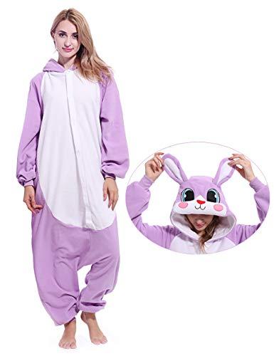 ofodoing Adult Rabbit Onesies Pajamas Cosplay Animal Homewear Sleepwear Jumpsuit Costume]()