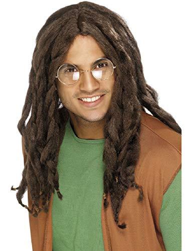 Mens Brown Rastafarian Dreadlock Wig Costume