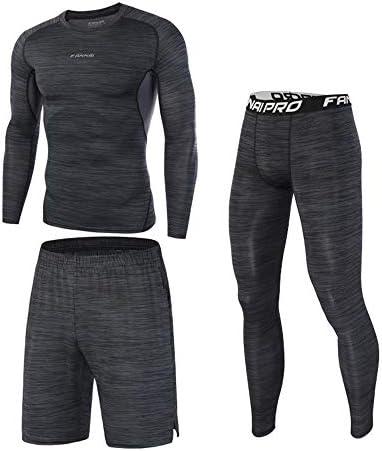 レディースジャージ上下セット ワークアウトスポーツジョギングスーツスポーツウェアメンズランニングセットジム服弾性圧縮タイツフィットネス 吸汗 速乾 (Size : XXL)