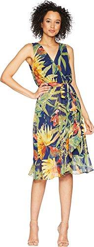 Sangria Women's Surplus Front Tie Front Dress Navy/Multi 8 for $<!--$40.05-->