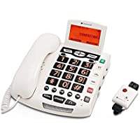 ClearSounds CSC600ER Ultraclear Amplifying Emergency Connect Speakerphone with Wireless Pendant - White