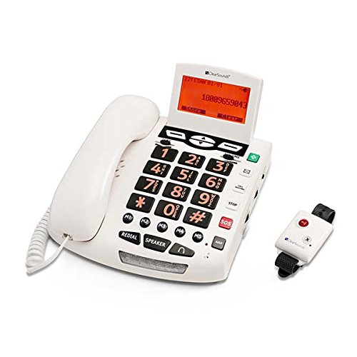 ClearSounds CSC600ER Ultraclear Amplifying Emergency Connect Speakerphone with Wireless Pendant - White ()