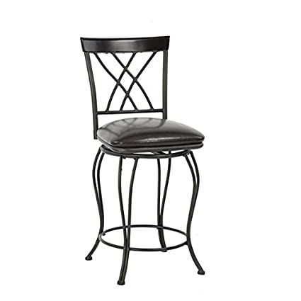 Amazoncom Lillyarn Pu Leather Bar Chair Metal Counter Stool With