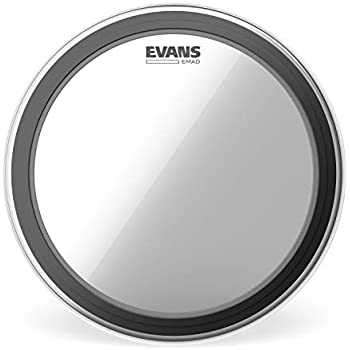 evans emad2 clear bass drum head 22 externally mounted adjustable damping system. Black Bedroom Furniture Sets. Home Design Ideas