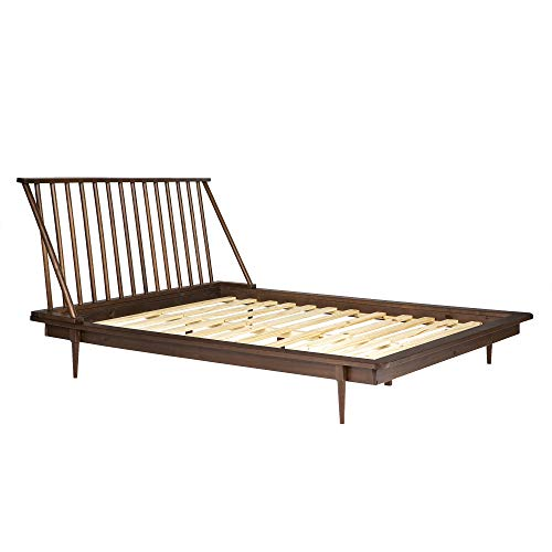 (Walker Edison Furniture Company Modern Wood Queen Spindle Bed - Walnut)
