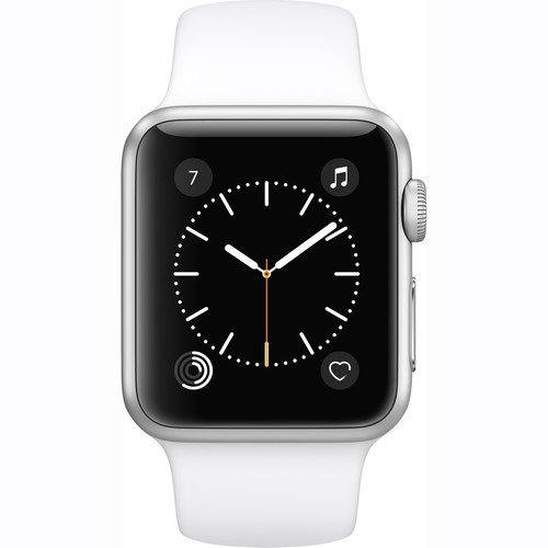 Apple Watch Series 1 Smartwatch 38mm Silver Aluminum Case, White Sport Band (Newest Model) (Certified Refurbished)