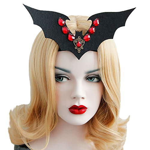 Rose Noir Women Girls Black Gothic Rose Lace Headband Spiderweb Witch Hair Accessories Halloween Christmas Party Headwear (Vampire -