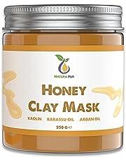 Honing Gezichtsmasker 250g - Natuurlijke Cosmetica Anti Puistjes, Mee-eters Masker en Tegen Acne - Anti-aging verzorging voor Droge en Onzuivere Huid - Reinigend Masker voor Gezicht en Lichaam