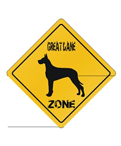 - Great Dane Zone Silhouette - Dogs [ Decorative Crossing Sign Wall Plaque ]