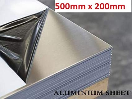 aluminium sheet 3mm 125mm x 125mm x 3mm poly coated protection to both faces Various sizes