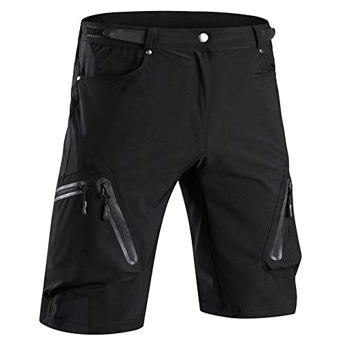 Cycorld Men's Water Repellent MTB Baggy Cycling Shorts, Loose-fit Bicycle Biking 1/2 Pants, Outdoor Sports Leisure Bottoms (L, ()