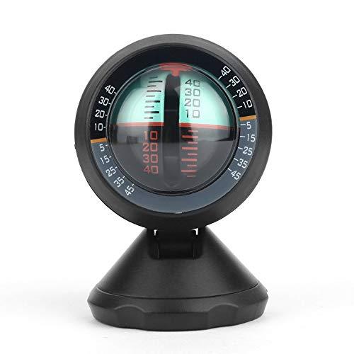 Negro /Ángulo port/átil Inclinador del medidor de nivel de la pendiente Balanceador Inclin/ómetro para veh/ículos de autom/óvil Herramienta de buscador de nivel de /ángel para viajeros de autos