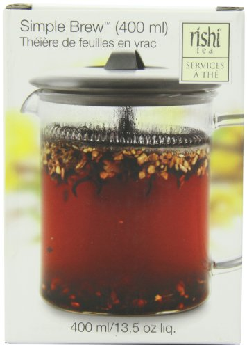 Rishi Tea Simple Brew Loose Leaf Teapot, 13.5 Ounces - Brewer Loose Tea Leaf