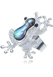 Multicoloured Psychedelic Haze Crystal Rhinestone Frog Fashion Ring