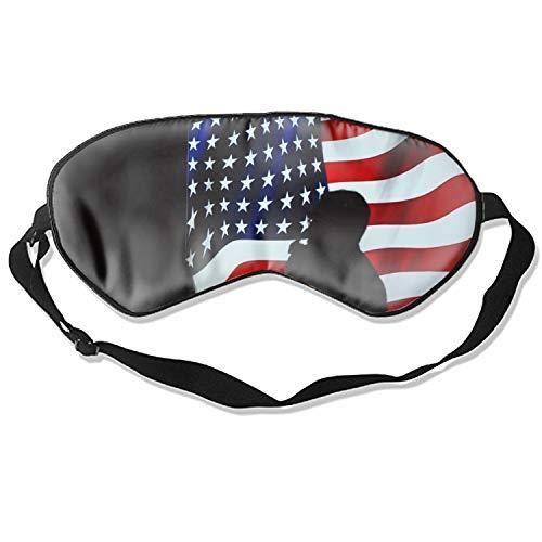 Eye Mask Super Soft American Flag Banner Pattern Eye Mask Silk Sleeping Mask