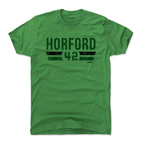 500 LEVEL Al Horford Cotton Shirt X-Large Kelly Green - Vintage Boston Basketball Men's Apparel - Al Horford Boston Font G