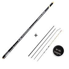 Super Hard Ultra Light Telescopic Fishing Rod 3.6-7.2M Fishing Float Hook line Kit with Top Three Spare Tips,4.5M Rod Set