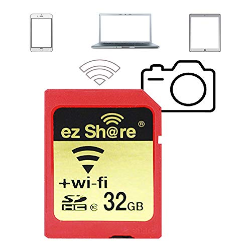 (32 GB ez Share WiFi SD Card Or Adapter WiFi SDHC Card Class10 SD Card Wireless Camera Memory Card)