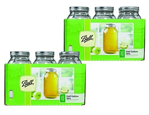 Ball 64 ounce Jar, Wide Mouth, Set of 12 -