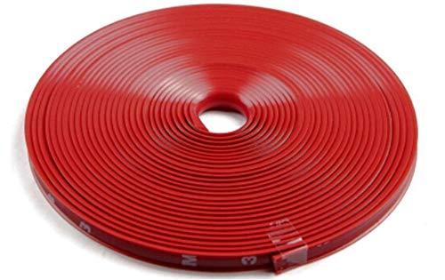 Nice Red Car Wheel Rim Edge Protector Ring Tire Guard Sticker Line Rubber Strip