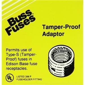 Bussmann SA-30 30 Amp Single Motor Circuit Edison Base Fustat Fuse Adaptor, 4-Pack by Bussmann ()