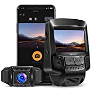#LightningDeal APEMAN WiFi Dash Cam Full HD 1080P Sony Sensor Dash Camera for Cars Recorder with Super Night Vision, 2.45 Inches IPS Display, Loop Recording, Motion Detection, G-Sensor, Parking Monitoring
