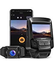 APEMAN WiFi Dash Cam Full HD 1080P Sony Sensor Dash Camera for Cars Recorder with Super Night Vision, 2.45 Inches IPS Display, Loop Recording, Motion Detection, G-Sensor, Parking Monitoring