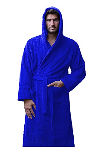 3d5987cef6 Terry Cotton Hooded Robes for Men and Women