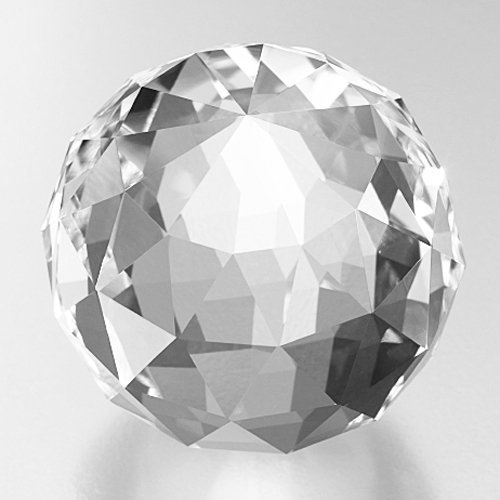 Faceted Sphere (Amlong Crystal Clear Faceted Crystal Ball 110mm 4.2