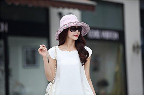 ef53e1cda46e61 Siggi Bucket Boonie Cord Fishing Beach Cap Summer Sun Hat Wide Brim for  Women UPF50+ Pink