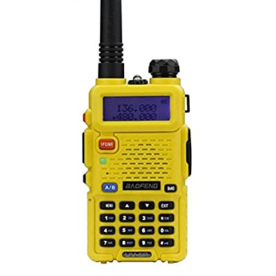 Baofeng UV-5R Walkie Talkie Dual Band Two Way Radio Transceiver - Yellow [5Bkhe0805921]