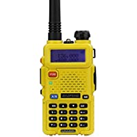 Baofeng UV-5R Walkie Talkie Dual Band Two Way Radio Transceiver - Yellow