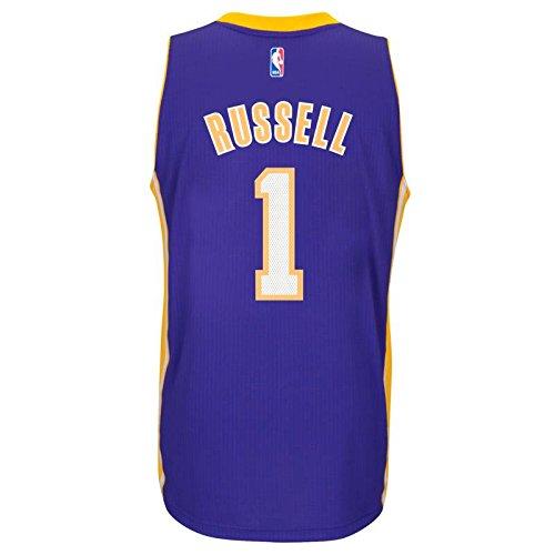 D'Angelo Russell Los Angeles Lakers Adidas Road Swingman Jersey (Purple) 2XL (Hat Jersey Road Swingman)