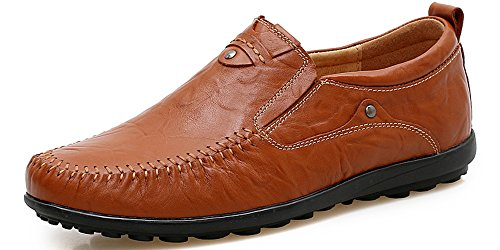 Lapens Men's Driving Shoes Premium Genuine Leather Fashion Slipper Casual Slip On Loafers Shoes LPMLFS1997-RB42