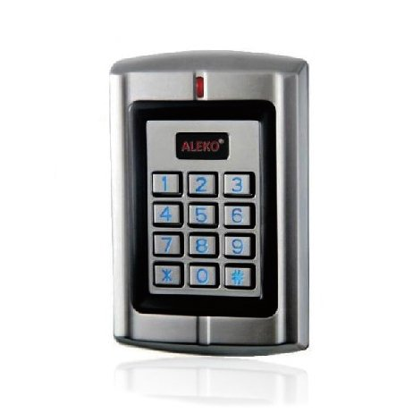 ALEKO LM178 12/24V Universal Wired Metal Alloy Water Proof Two Door Control Keypad With Backlight by ALEKO