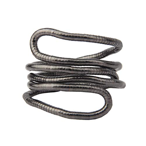 BNQL Bendable Snake Necklace Flexible Multi-Purpose Necklace (Gunmetal)