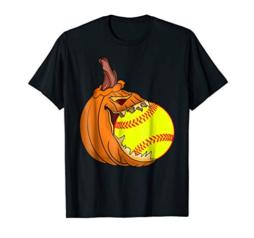 Pumpkin Carving Eat Softball Ball Costume T-Shirt -