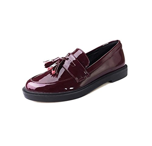 Tacos Oxford Vintage Mocassins Automne Winered Chaussures Mesdames tudiants 6qSwHHIZ