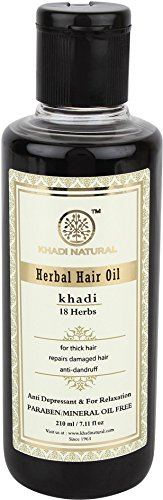 Khadi Natural Ayurvedic Herbal 18 Herbs Hair Oil for Strong Smooth Hair (210 ml)