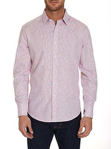 Robert Graham Garden Lake Long Sleeve Printed Woven Sport Shirt Classic Fit Red (Button Up Woven Sport Shirt)