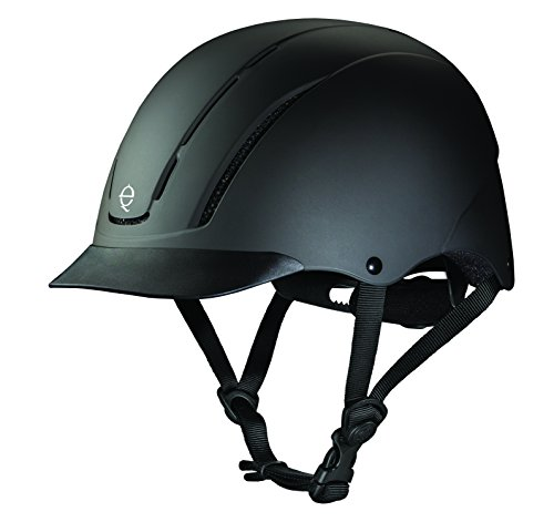TROXEL SPIRIT Black DURATEC 1 Equestrian Riding Adjustable Helmet ♦ ASTM/SEI Certification (Medium) (Helmet Troxel Schooling Spirit)