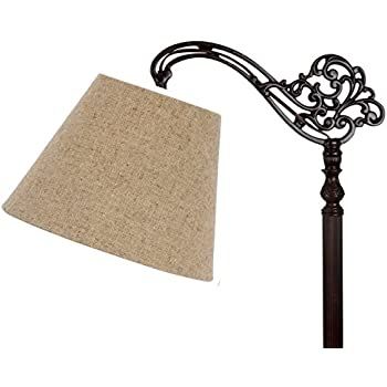 Upgradelights eggshell uno 12 inch lamp shade replacement for down upgradelights 10 inch uno floor lamp shade replacement in beige linen 6x10x75 audiocablefo