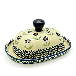Bunzlauer Butter Dish for 125 g Half Portion of Butter Dekor Angelika