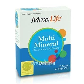 Amazon.com: maxxlife Multi Mineral 30 Cápsulas. (Best Buy ...